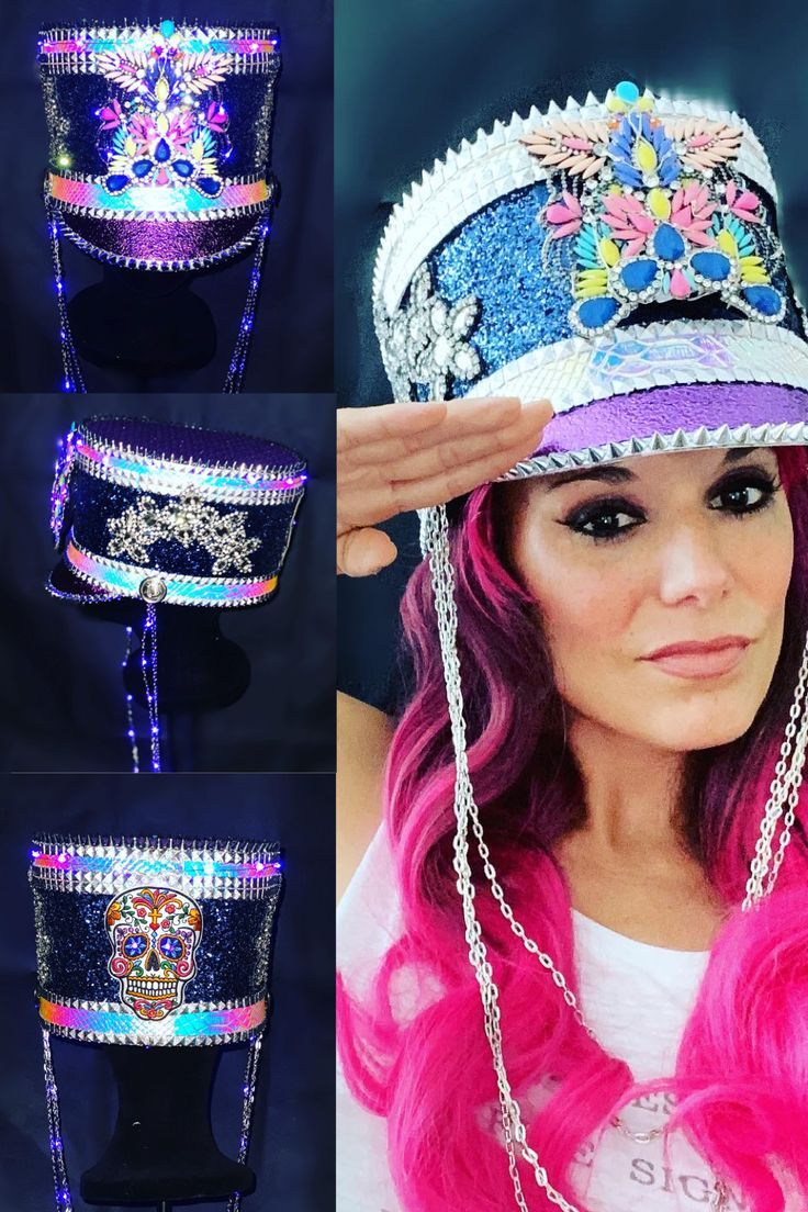 This beauty is a must have for your next festival. #burningmanfashion #festivalfashion #festivalhat #customhat #ledlights