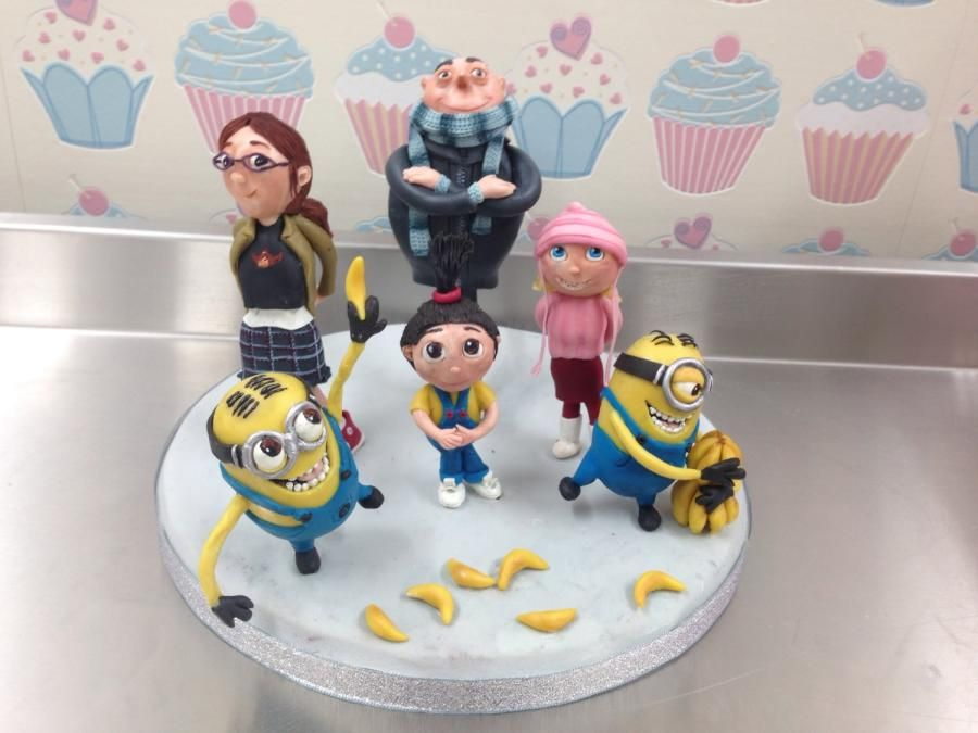 Despicable Me Cake Topper cupcake toppers Pinterest Cake Cake