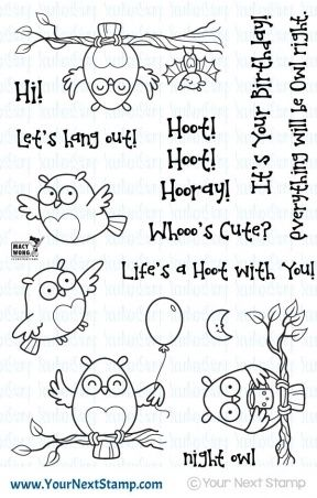 Your Next Stamp LIFE'S A HOOT Clear Stamp CYNS290