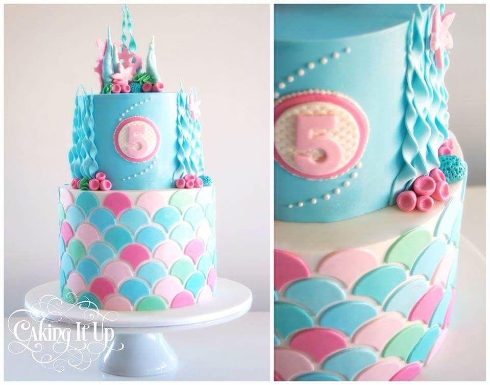 Girls mermaid cake girls childrens cake ideas pinterest cake girls mermaid cake sciox Choice Image