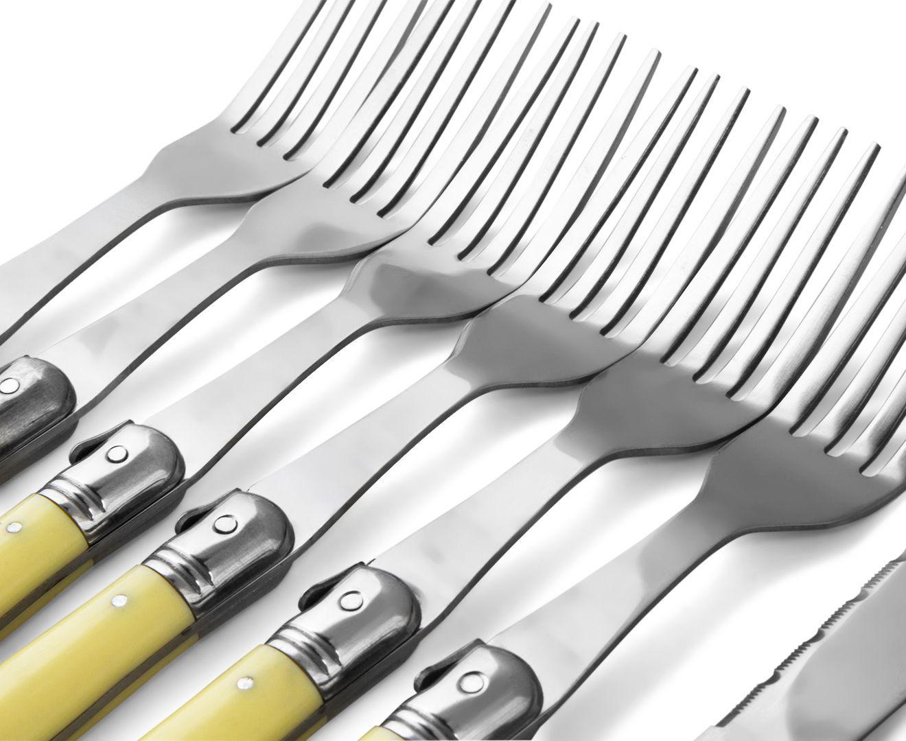 Laguiole 12-Piece Steak Knife & Fork Set