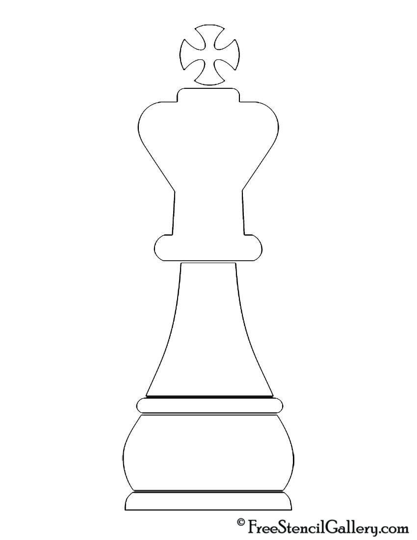 Chess Piece King Stencil Free Stencil Gallery Chess Piece Tattoo Chess Pieces King Chess Piece