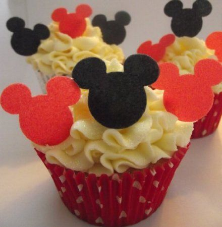 Mickey Mouse Minnie Mouse Edible Wafer Stand Up Black and Red Mix