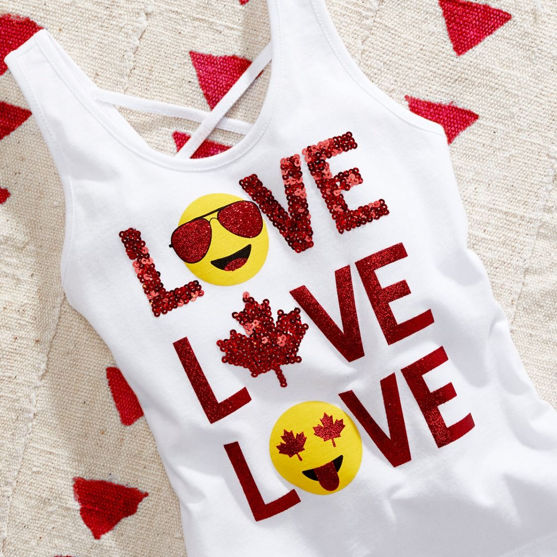 Girls Fashion Kids Clothes Canada Day Tank Top The