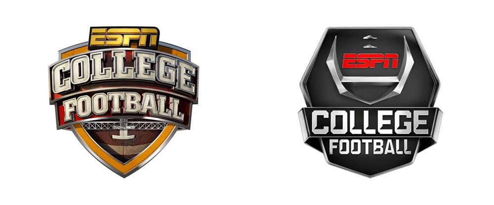 Reviewed New Logo And On Air Packaging For Espn College Football By Loyalkaspar Logo Keren
