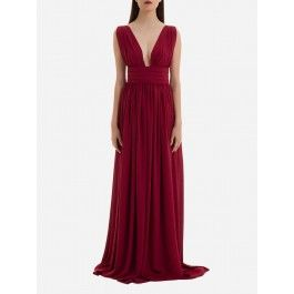 BURGUNDY LONG DRESS | KAOA