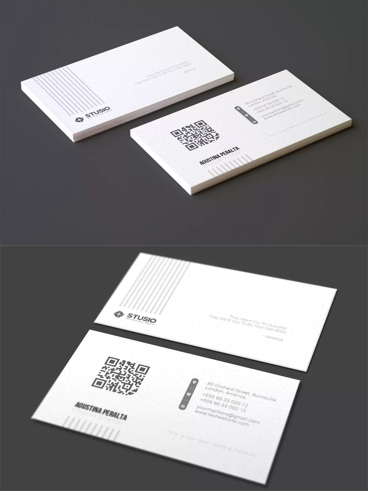 Business Card Template AI, EPS | ARCH | Portfolio | Pinterest ...