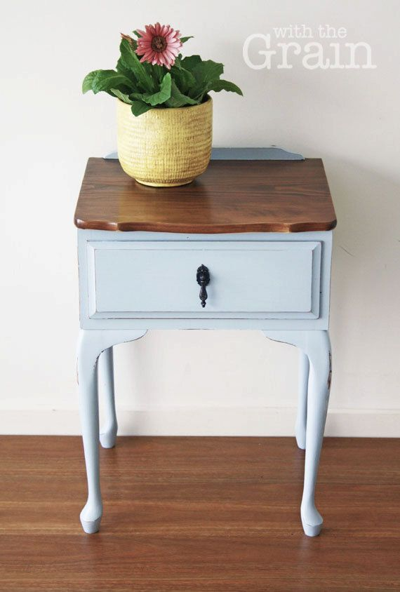 Best Queen Anne Style French Blue Bedside Tables By 400 x 300