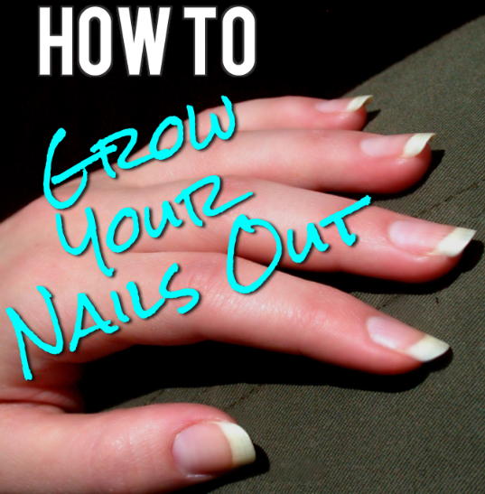 How to Actually Grow Out Your Nails. Lots of useful tips here - I actually had no idea that you were only supposed to file in one direction.