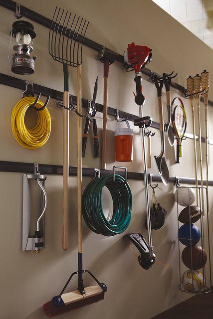 Rubbermaid Fasttrack Garage Organization System Diy Garage Storage Garage Organisation Garage Organization Tips