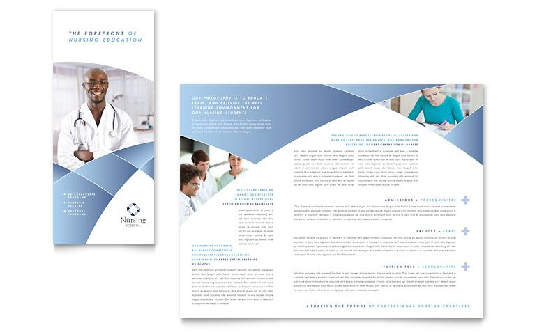 Tri Fold Event Brochure Design – Medical Brochure Template