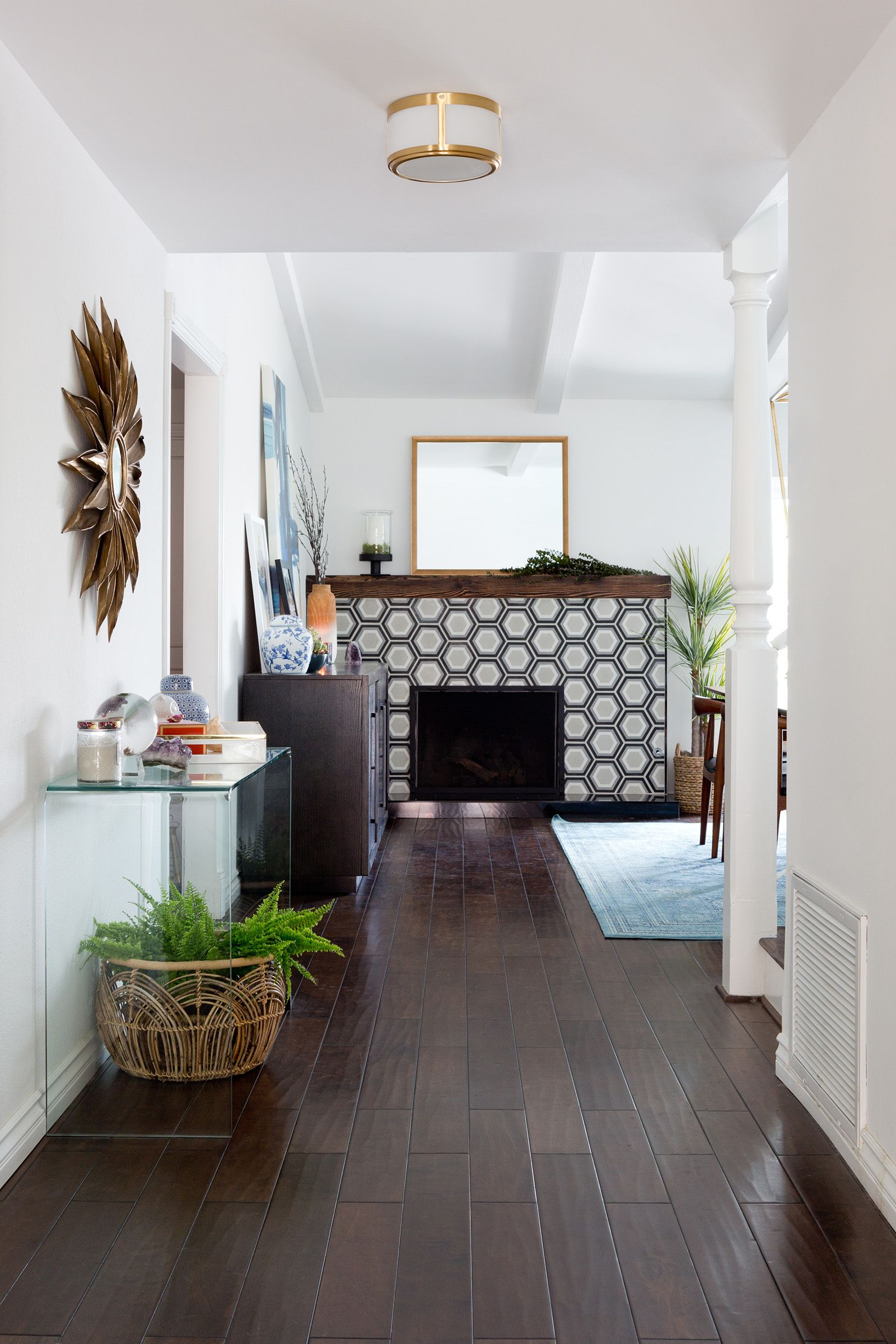 Tour a home with midcentury bones and a healthy dose of glam mid