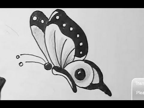 How To Draw Easy Butterfly Youtube Nursery Room In 2019