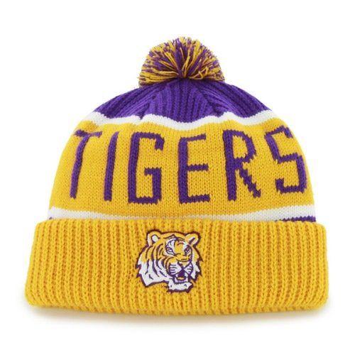 f5fc45fc5 LSU Tigers Pom Hat | Cool LSU Tigers Fan Gear | Lsu tigers, Pom pom ...