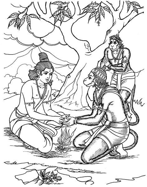Coloring Pages Images For Ramayana Story Coloring Pages Sketches