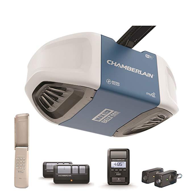 Chamberlain Group Chamberlain B970 Smartphone Controlled Ultra Quiet Strong B Chamberlain Garage Door Opener Chamberlain Garage Door Smart Garage Door Opener