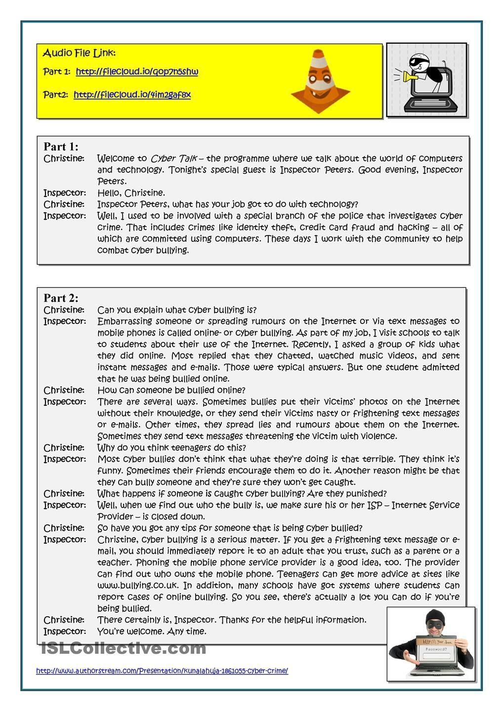 Cybercrime Reading Comprehension Teaching English Esl Reading [ 1440 x 1018 Pixel ]