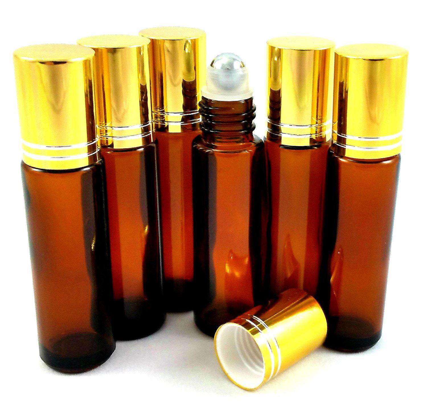 6 New Amber Glass 10ml Roller Bottles Recipe Ebook Included Apply Essential Oils Blends Roller Bottle Recipes Essential Oils Essential Oil Roller Balls