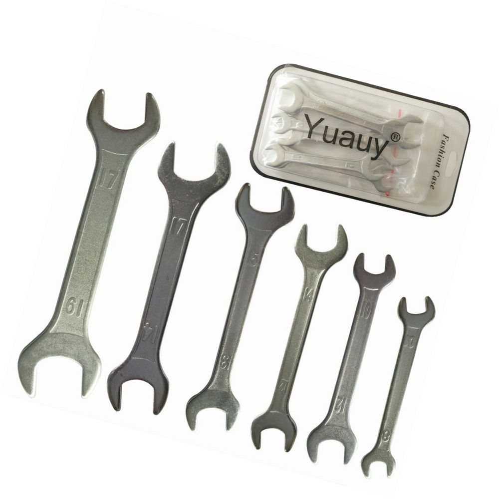 Double Ended 8 mm thru 19mm Cone Wrench Bicycle Tool Kit Spanner Bike Cycling
