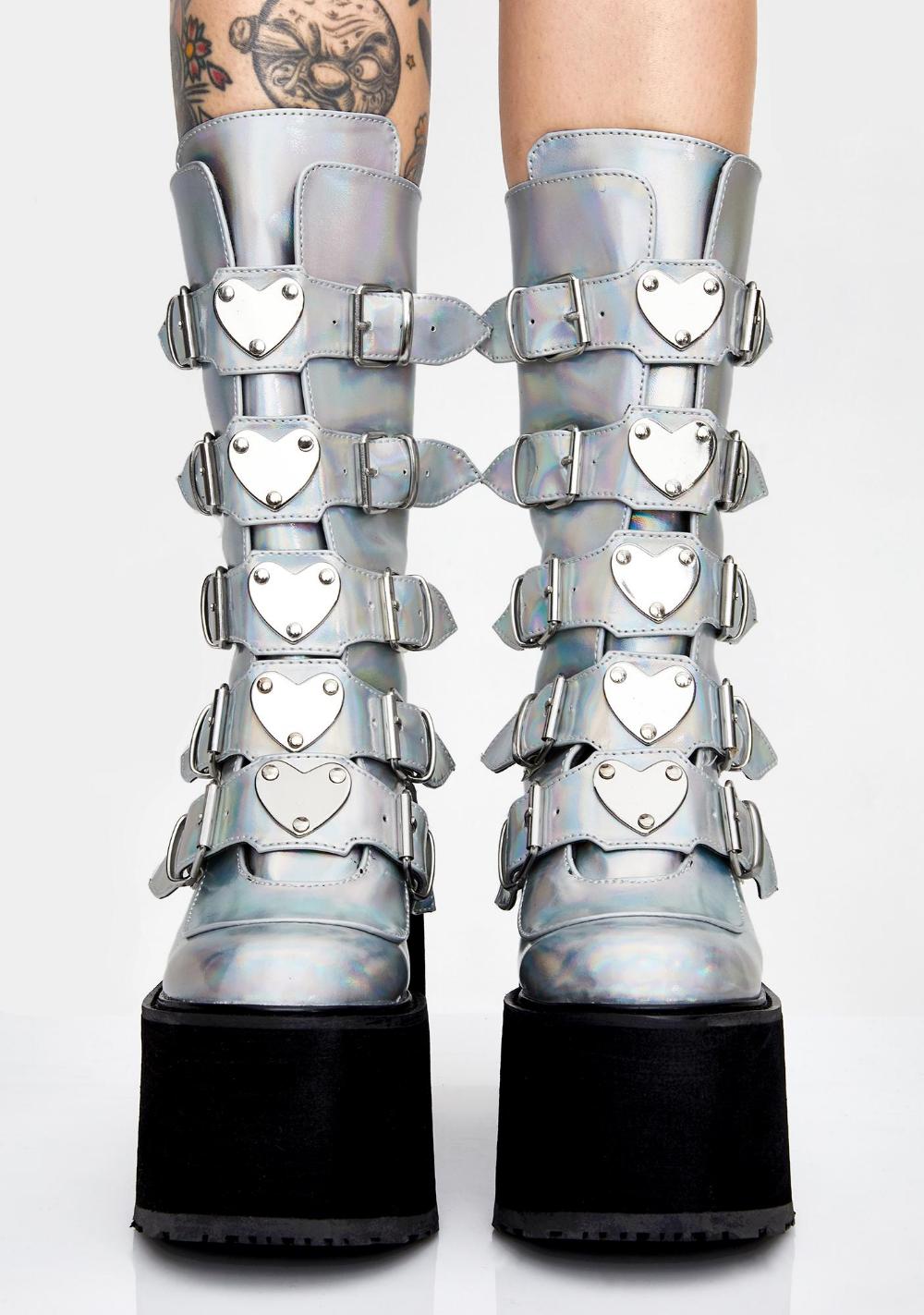 demonia earthshaker platform boots