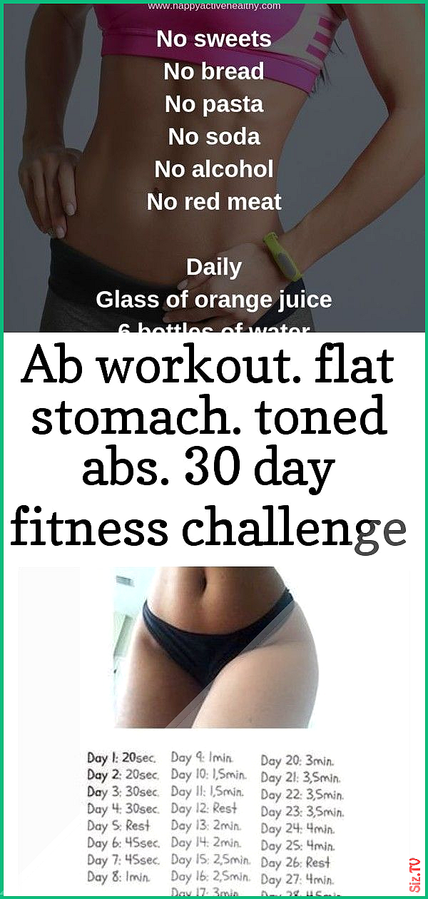 ABS Challenge Day Fitness Flat Stomach Toned Workout ab workout flat stomach ton...    ABS Challenge...