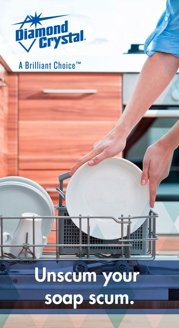 Hard Water Can Leave Deposits Causing Staining And Spotting On Glassware And Dishes Help Keep Tableware Water Softener Salt Water Softener Housekeeping Tips