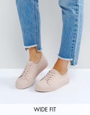 ASOS DESTINY Wide Fit Sneakers