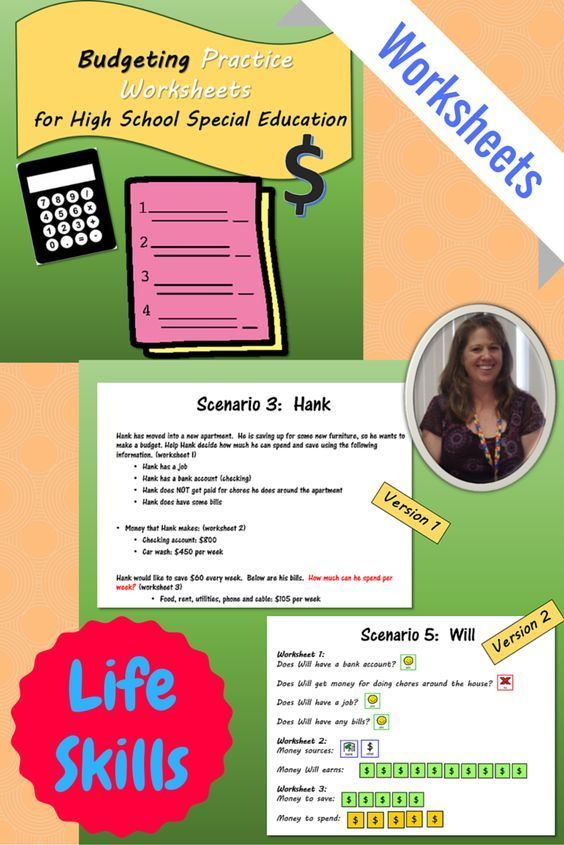 Worksheets For Special Ed : Budgeting practice worksheets for high school special