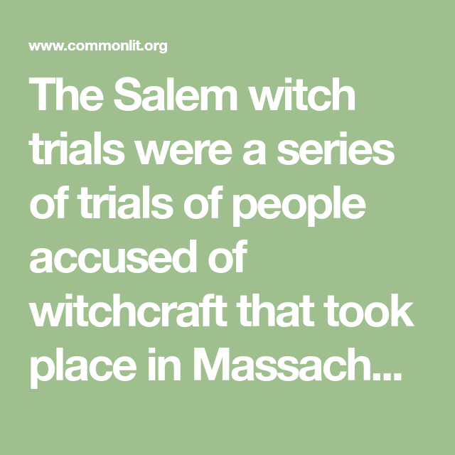 The Late Troubles at Salem | Salem witch trials, Witch ...