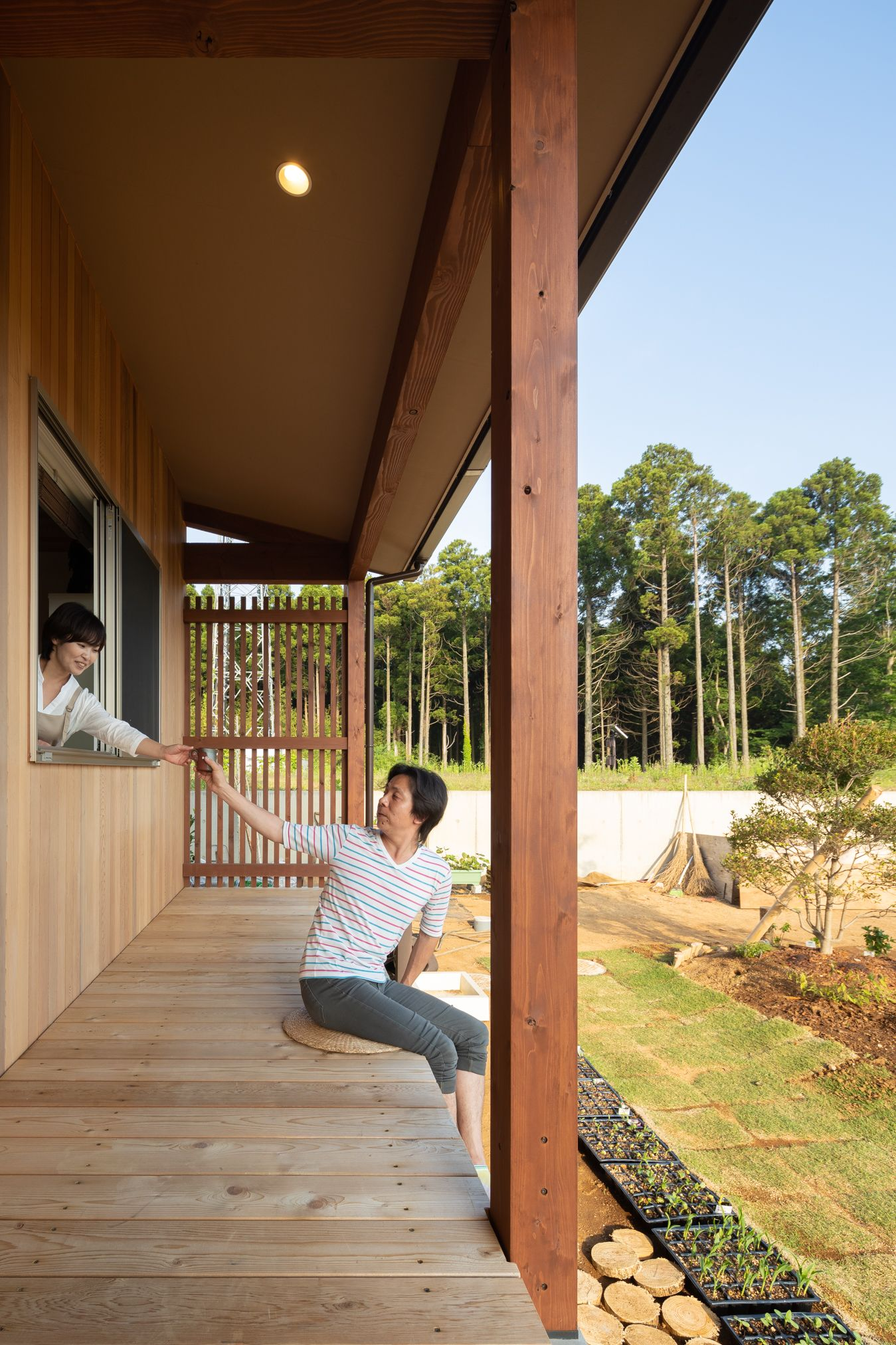 崖地に建つ風景を切り取る家 ちはら台東 南側に大きく抜けた土地に建つ