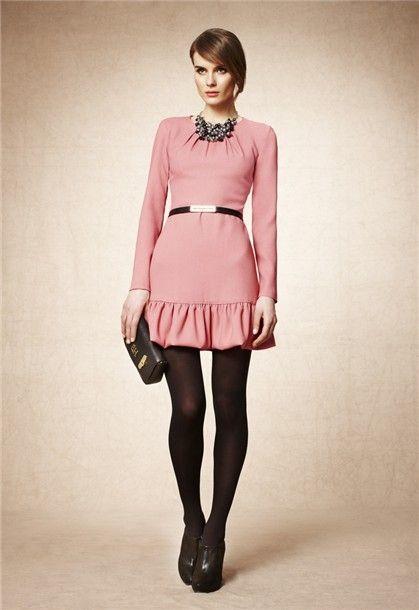 Lookbook Pedro del Hierro otoño-invierno 2012: Vestido rosa
