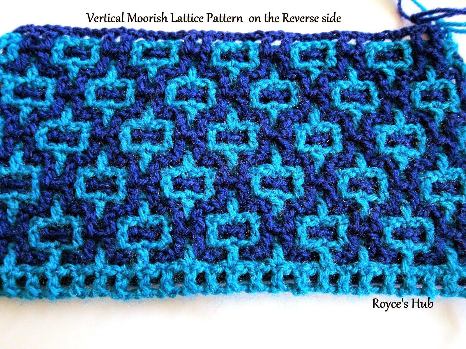Royce\'s Hub: Interlocking Crochet : Horizontal and Vertical Moorish ...