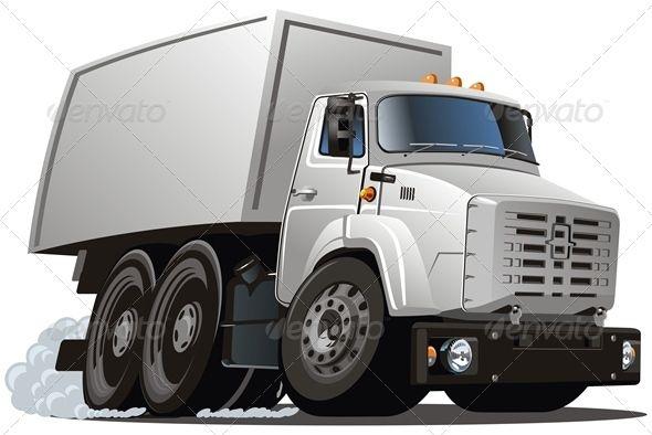 Vector Cartoon Cargo Truck Carros Trens