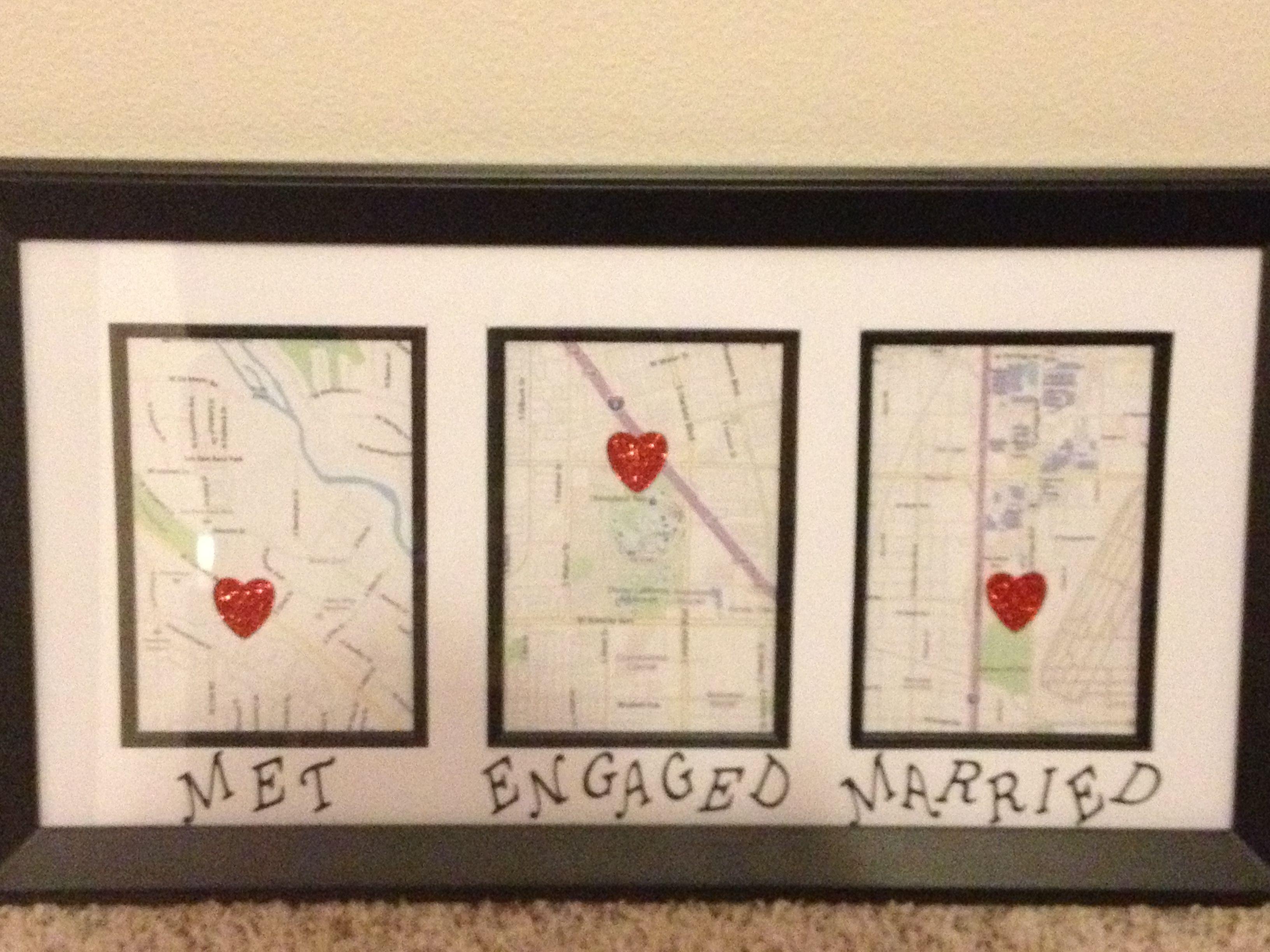 Amor · DIY love map · Regalos Para Recien CasadosRegalos
