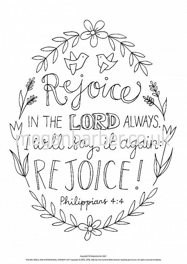 Philippians 4 4 Colouring Sheet Coloring Sheets Philippians