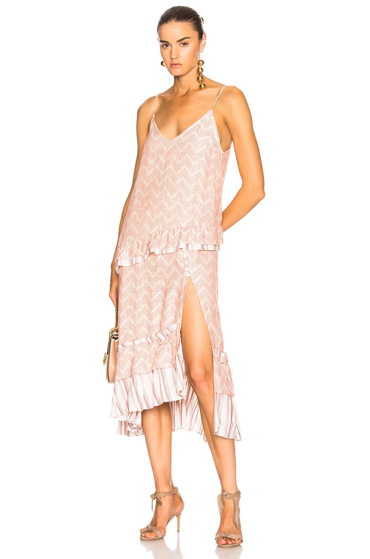 Lemlem Imani Ruffled Embroidered Cotton And Silk Blend Gauze Midi Dress In Ecru Modesens Dresses Slip Dress Midi Dress [ 1440 x 953 Pixel ]