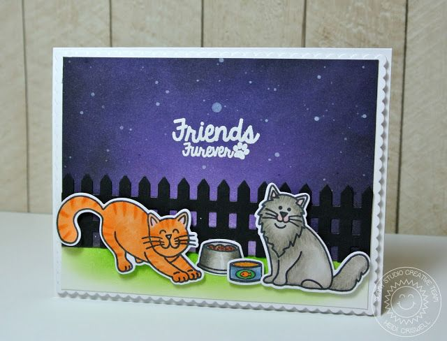 Crafty Time 4U for Sunny Studio Stamps, using the Friends Furever stamp and die set