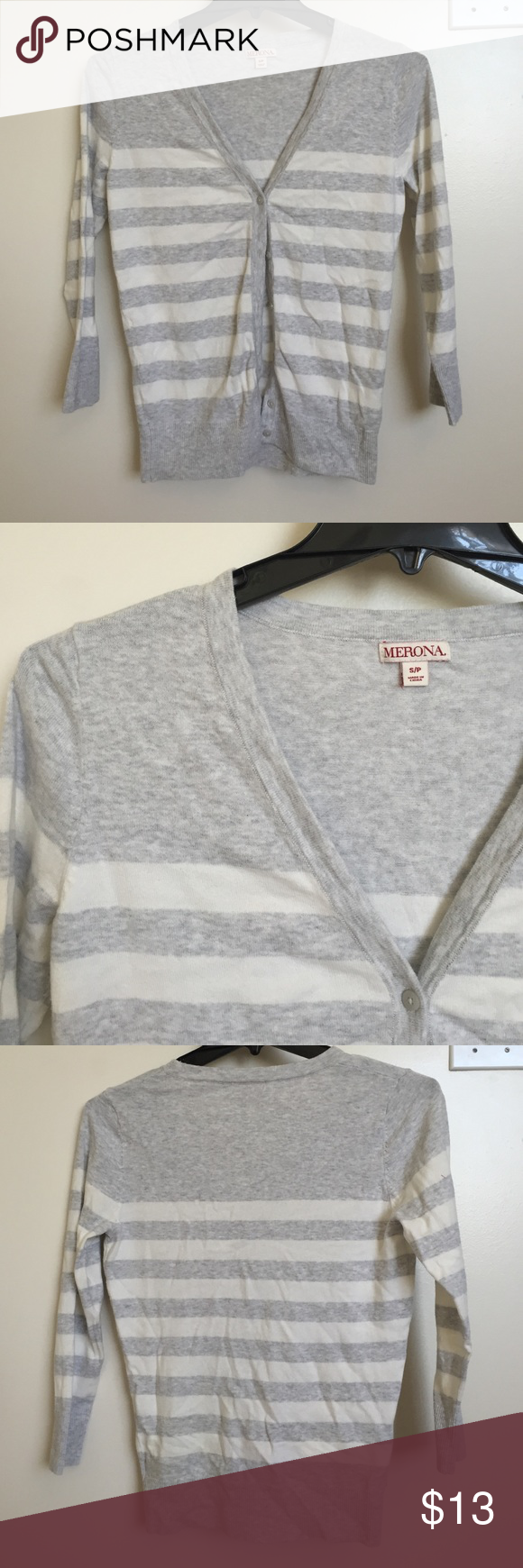 Never worn strip cardigan. Perfect condition! Never worn. Merona Sweaters Cardigans