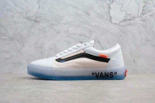 Custom Off White x Vans Old School Ice Blue | Sneakers men