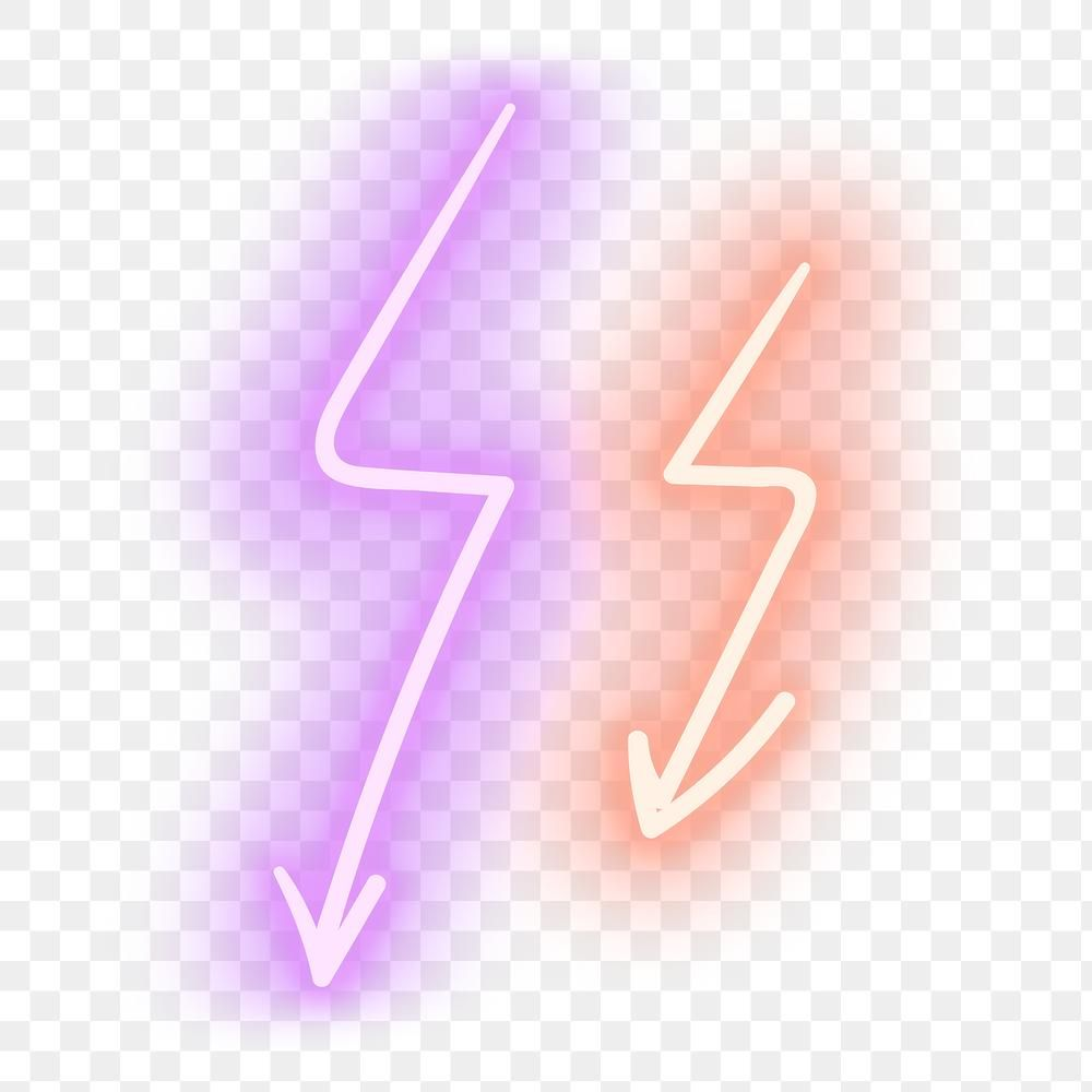 Neon Pink And Orange Zigzag Arrows Sign Design Element Free Image By Rawpixel Com Nook Neon Png Sign Design Neon
