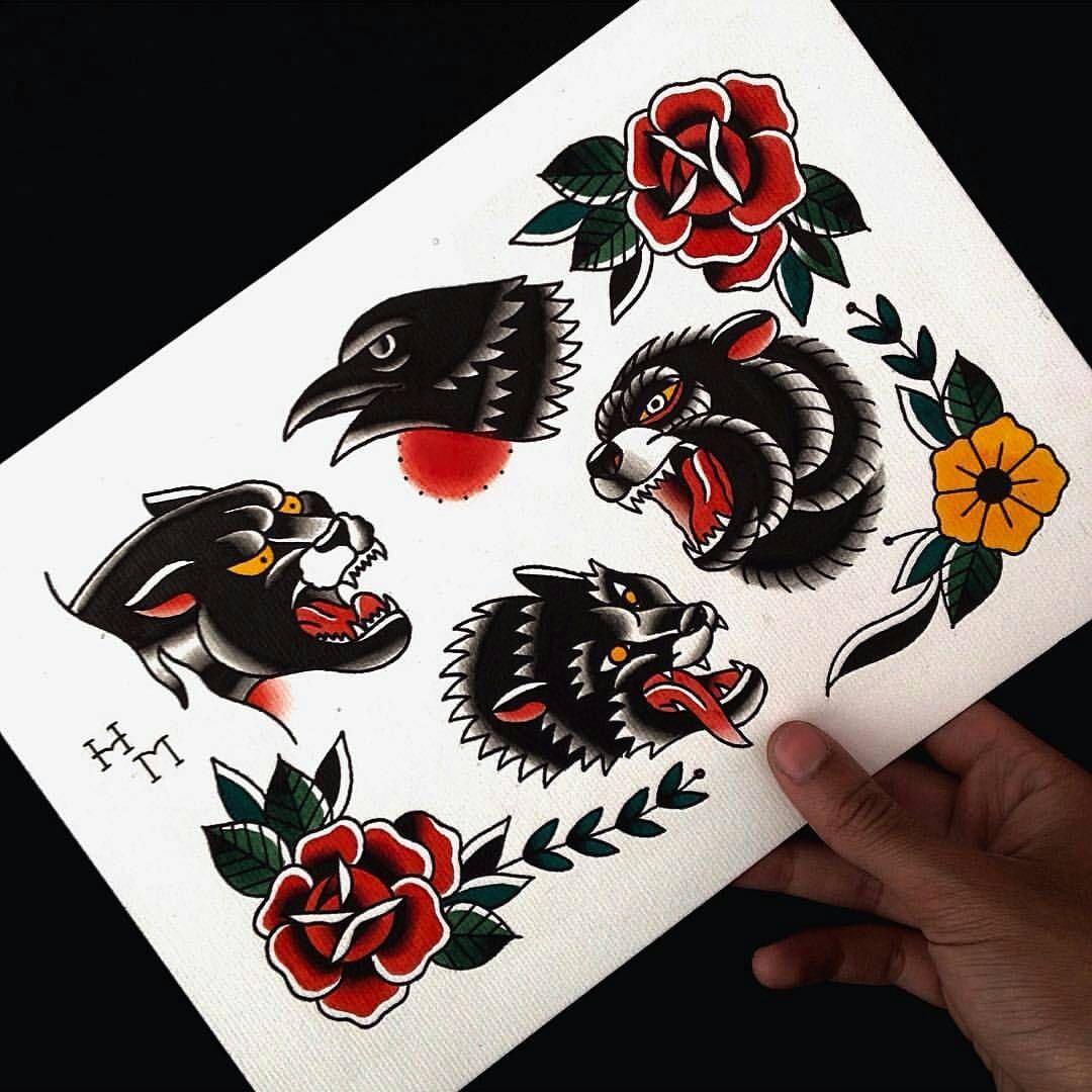 Pin De Outsiderlone En Old School Flash Tatuajes Tradicionales