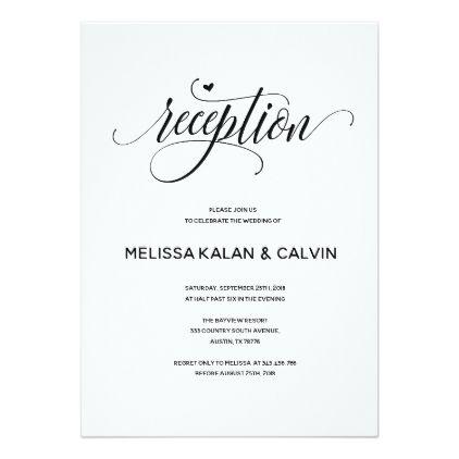 Modern Wedding reception card v1 Zazzle wedding invitations