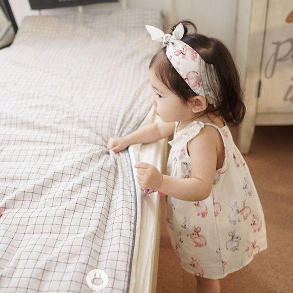 Arim Closet Bunny Cotton Babysuit Flower girl dresses, Girl