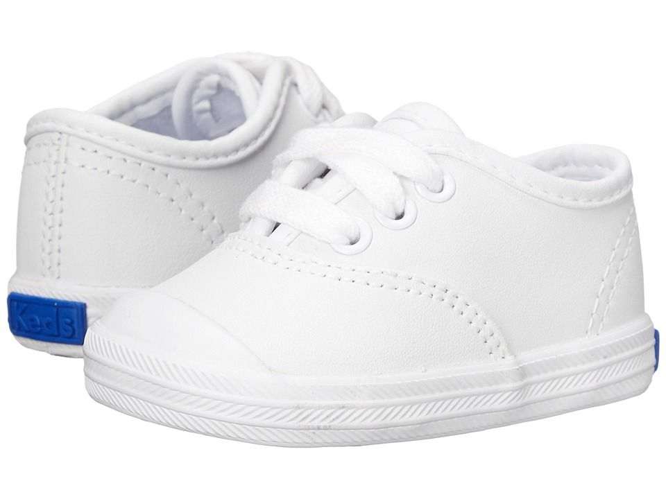 11770fee857 Keds Kids Champion Lace Toe Cap 2 (Infant) Girls Shoes White Leather ...