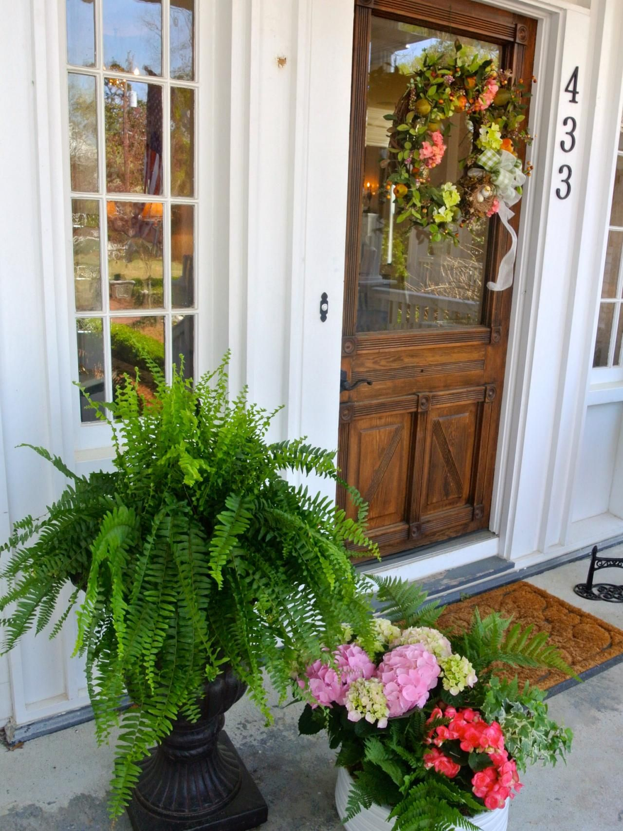 Front Door And Plant Color Combos Landscaping Ideas Hardscape Design Hgtv