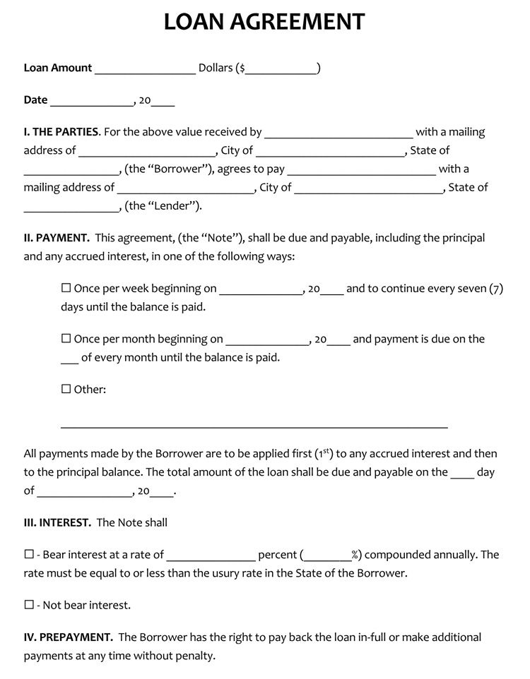 45 Loan Agreement Templates Samples Write Perfect Agreements
