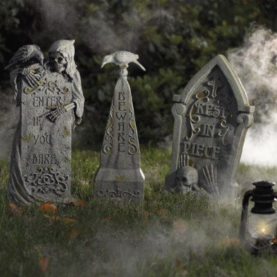 This store has some awesome halloween tombstones.