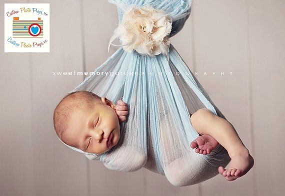Pastel Blue Cheesecloth Newborn Baby Wrap Photography Props