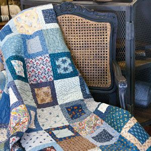 Moody Blues: Fast Scrappy One Block Lap Quilt Pattern | patchwork ... : patterns for lap quilts - Adamdwight.com