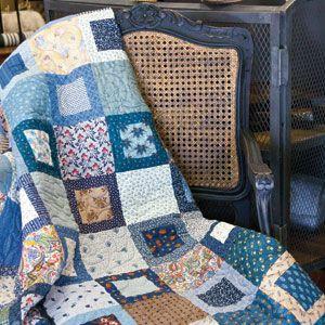 One easy quilt block design, alternating with plain fabric squares ... : fast quilt blocks - Adamdwight.com